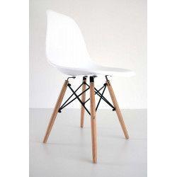 Chaise scandinave Bois/Blanc HOLI