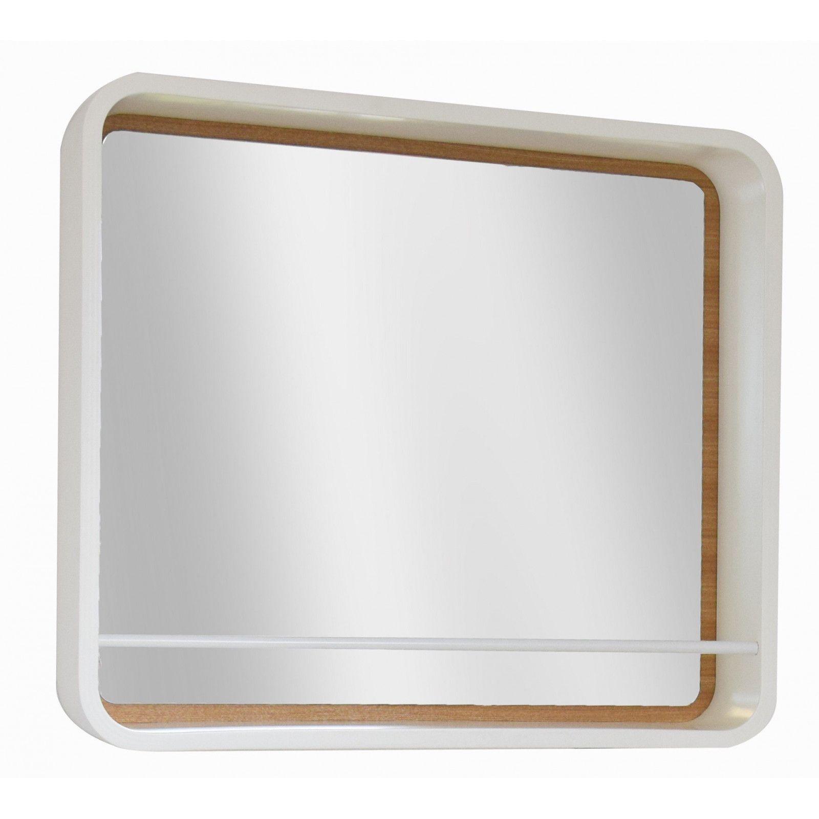 Miroir de SDB H60 x L70 + support étagère LATTA