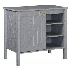 Meuble de salle de bain 85 cm gris patiné MARINA