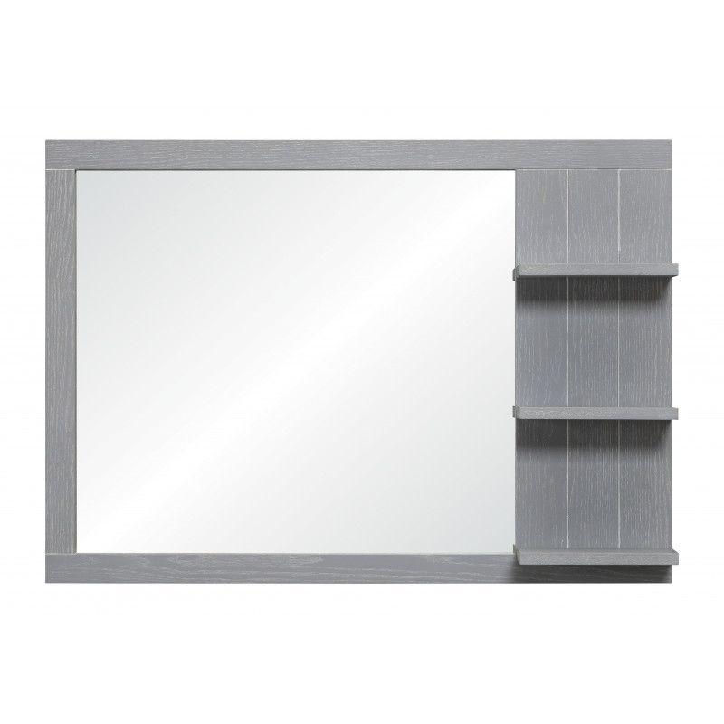 Miroir salle de bain H80  gris patiné MARINA
