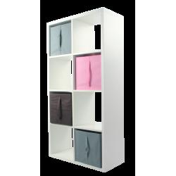COMPO Étagère 8 cases H139 - Ep.30 mm + 4 cubes KUBIN