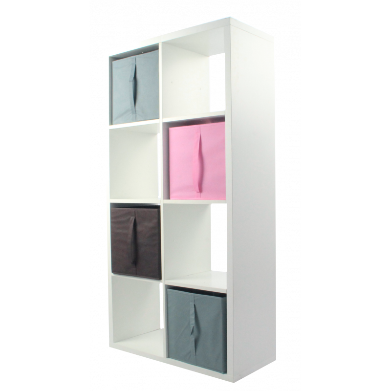 compo tag re 8 cases h138 8 mm 4 cubes rose gris chocolat kubin. Black Bedroom Furniture Sets. Home Design Ideas