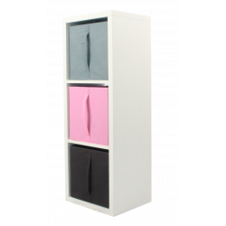 COMPO Étagère 3 cases H105 - Ep.30 mm + 3 cubes KUBIN