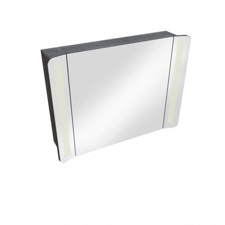 Ensemble de salle de bain 80 cm meuble + vasque + armoire LED TIGA