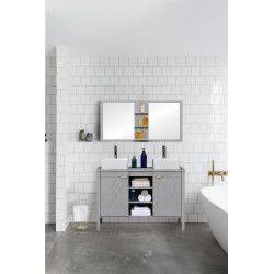 Ensemble Meuble Sous-Vasque Salle de Bain 120 cm + Miroir MARINA