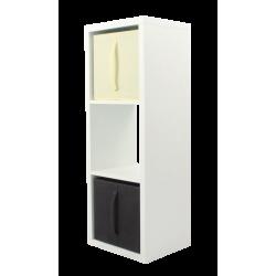 COMPO Meuble Rangement 3 cases H105,2 - Ep.30 mm + 2 cubes chocolat & écru KUBIN