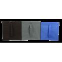 COMPO Étagère 6 cases H105 - Ep.30 mm + 6 cubes Bleu, gris & chocolat KUBIN