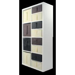 COMPO Etagère 8 cases H139 - Ep.30 mm + 12 cubes x P32 cm