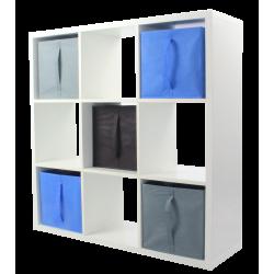 COMPO Etagère 9 cases H105 - Ep.30 mm + 5 cubes KUBIN