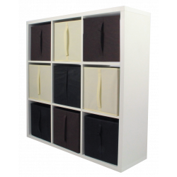 COMPO Etagère 9 cases H105 - Ep.30 mm + 9 cubes KUBIN