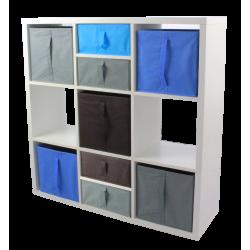 COMPO Etagère 9 cases H105 - Ep.30 mm + 5 cubes + 4 demi-cubes KUBIN