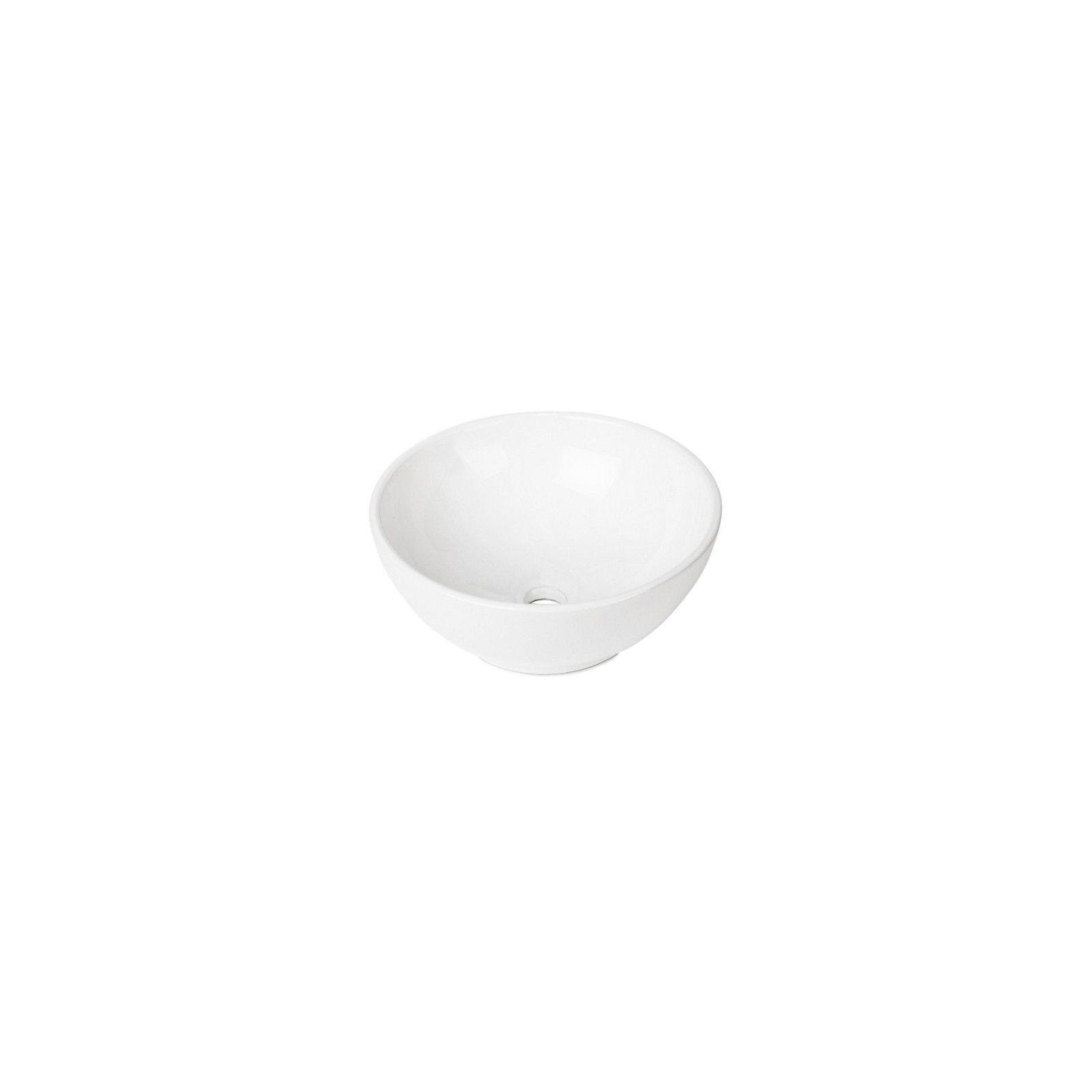Vasque blanche à poser en céramique Ø40 OMA