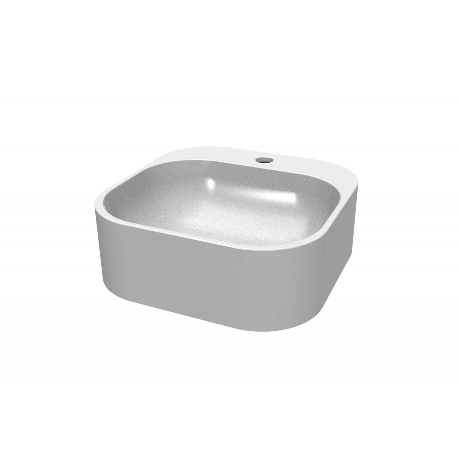 Vasque blanche à poser - Résine L37 SIAN