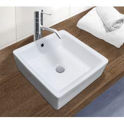 Vasque Salle de bain à Poser Blanche en Céramique L40 cm ANI