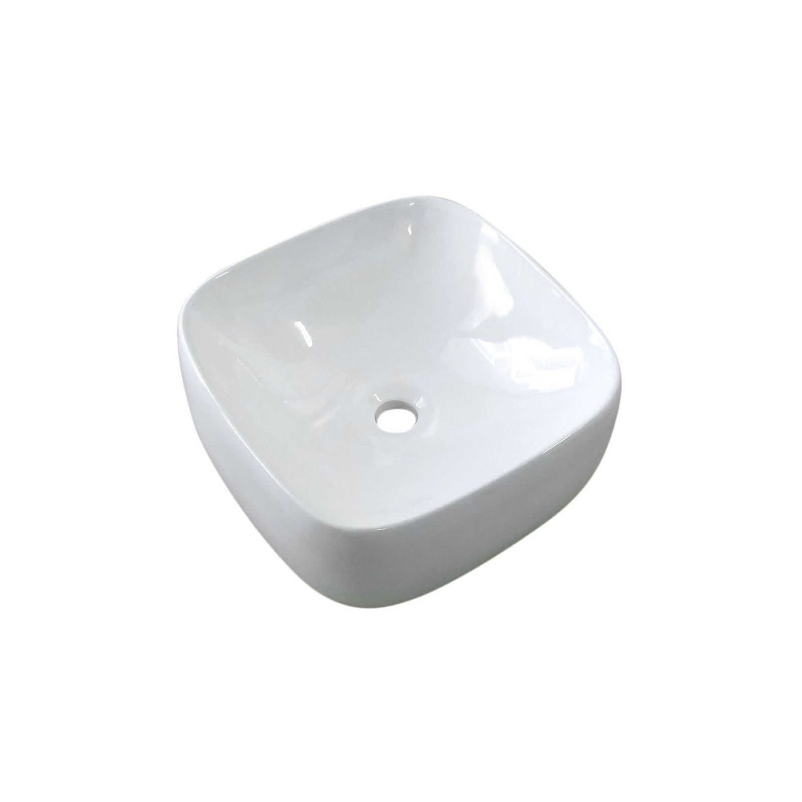 Vasque blanche à poser - Céramique L39 INU