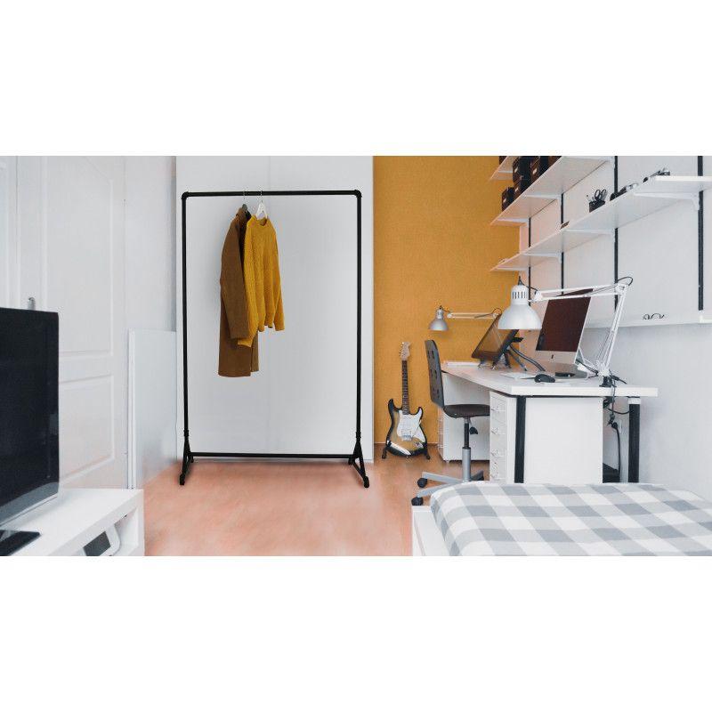 Portant vêtement - Acier noir  L110 x H160 TORY