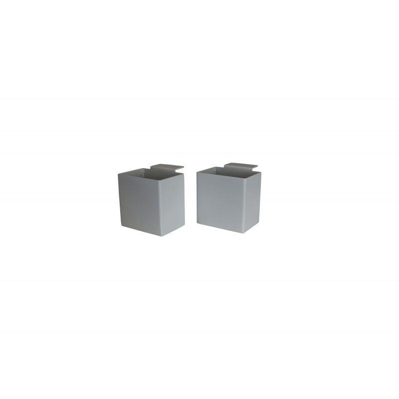 PACK 2 Boîtes de rangement avec pince