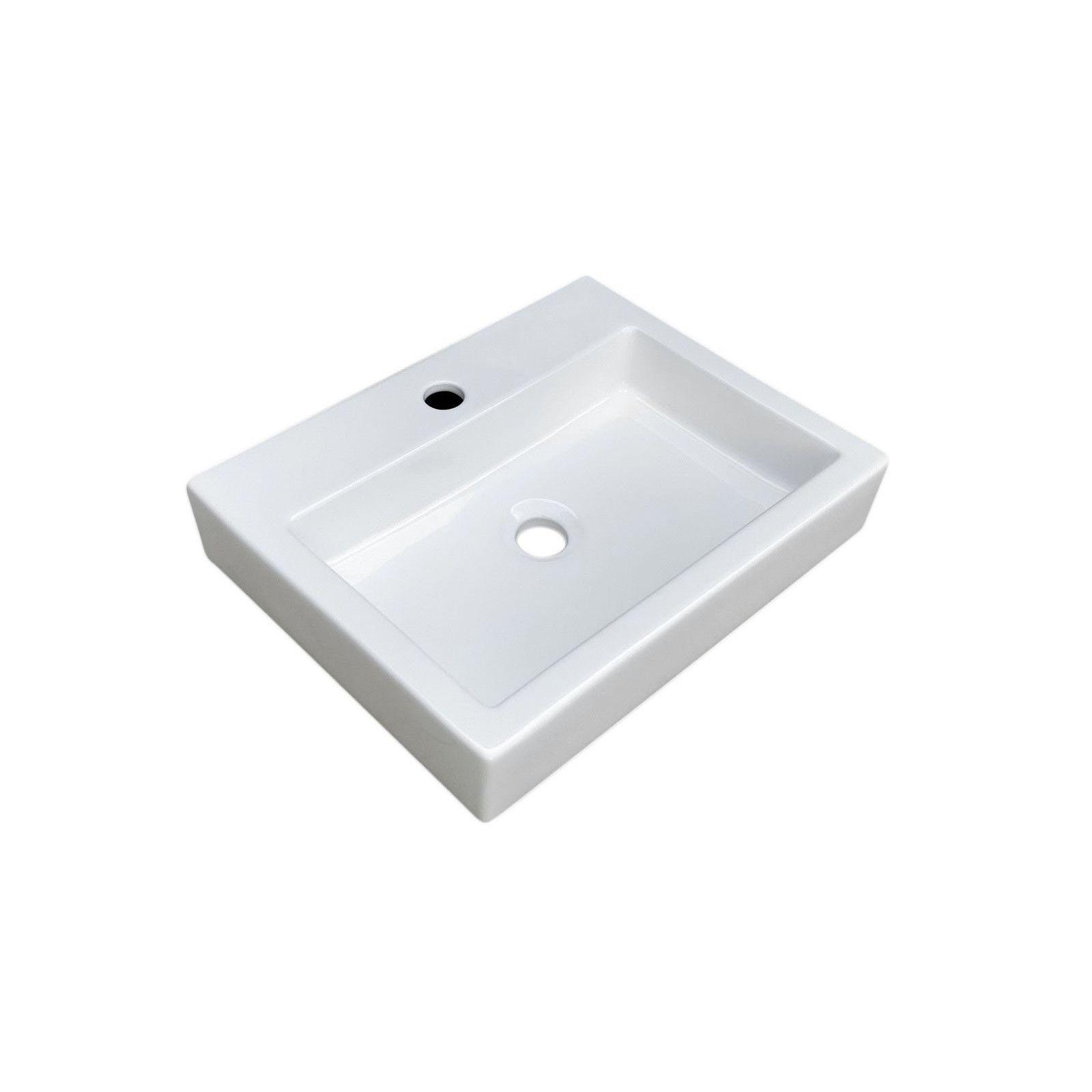 Lot de 2 vasques blanches à poser Céramique  L48 PADI