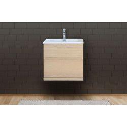 Meuble salle de bain 60 cm à suspendre chêne ENIO