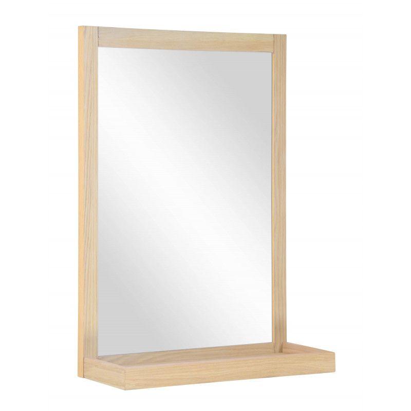 Miroir Salle de Bain en Bois L60 x H70 cm ENIO