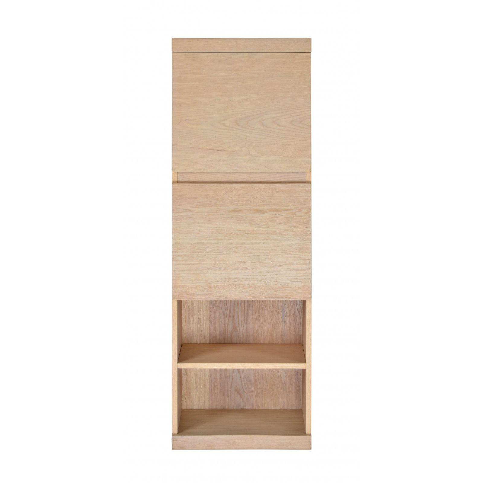 Ensemble salle de bain chêne 120 cm meuble + vasque + 2 miroirs + 2 colonnes ENIO