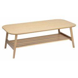 Table Basse Bois Rectangulaire  L120XH40xP60 cm OTELO