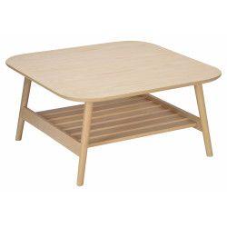 Table Basse Bois Carrée  L80XH40xP80 cm OTELO