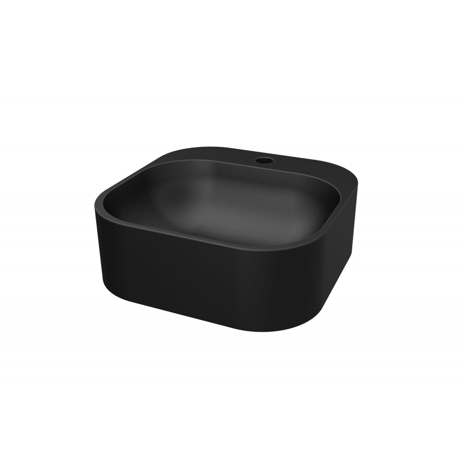 Vasque noire à poser - Résine L37 SIAN