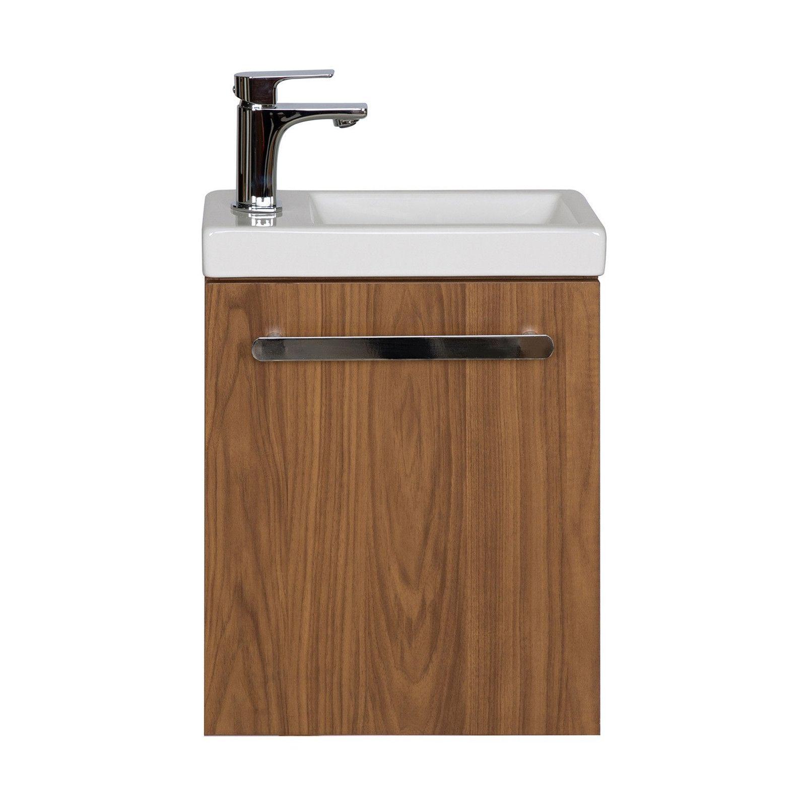 Lave-mains NEVADA avec vasque céramique L 41 x H 53 x P 21,5 cm