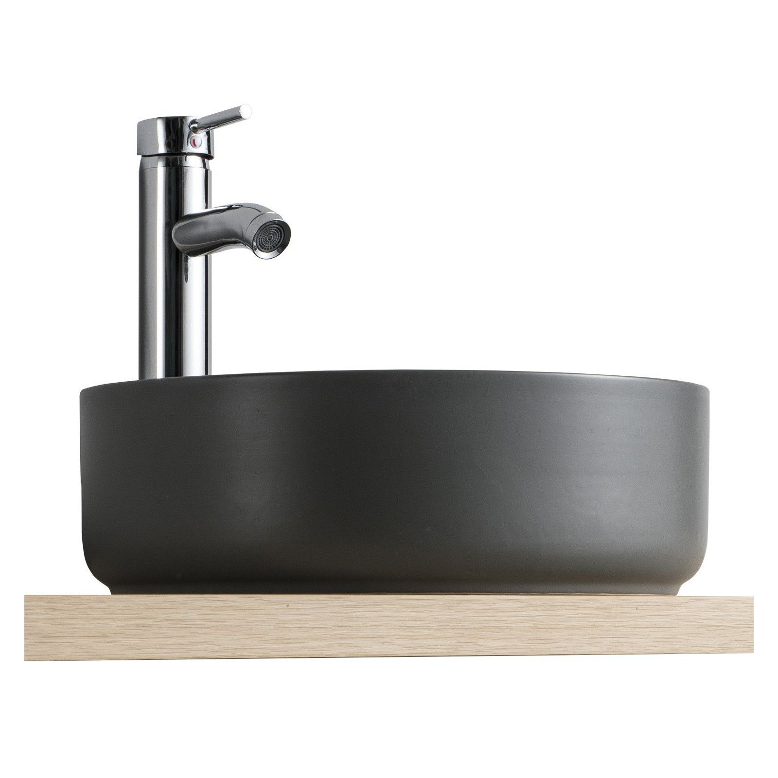 Vasque Salle de bain Ronde à Poser - Ø 37cm Céramique DIEGO