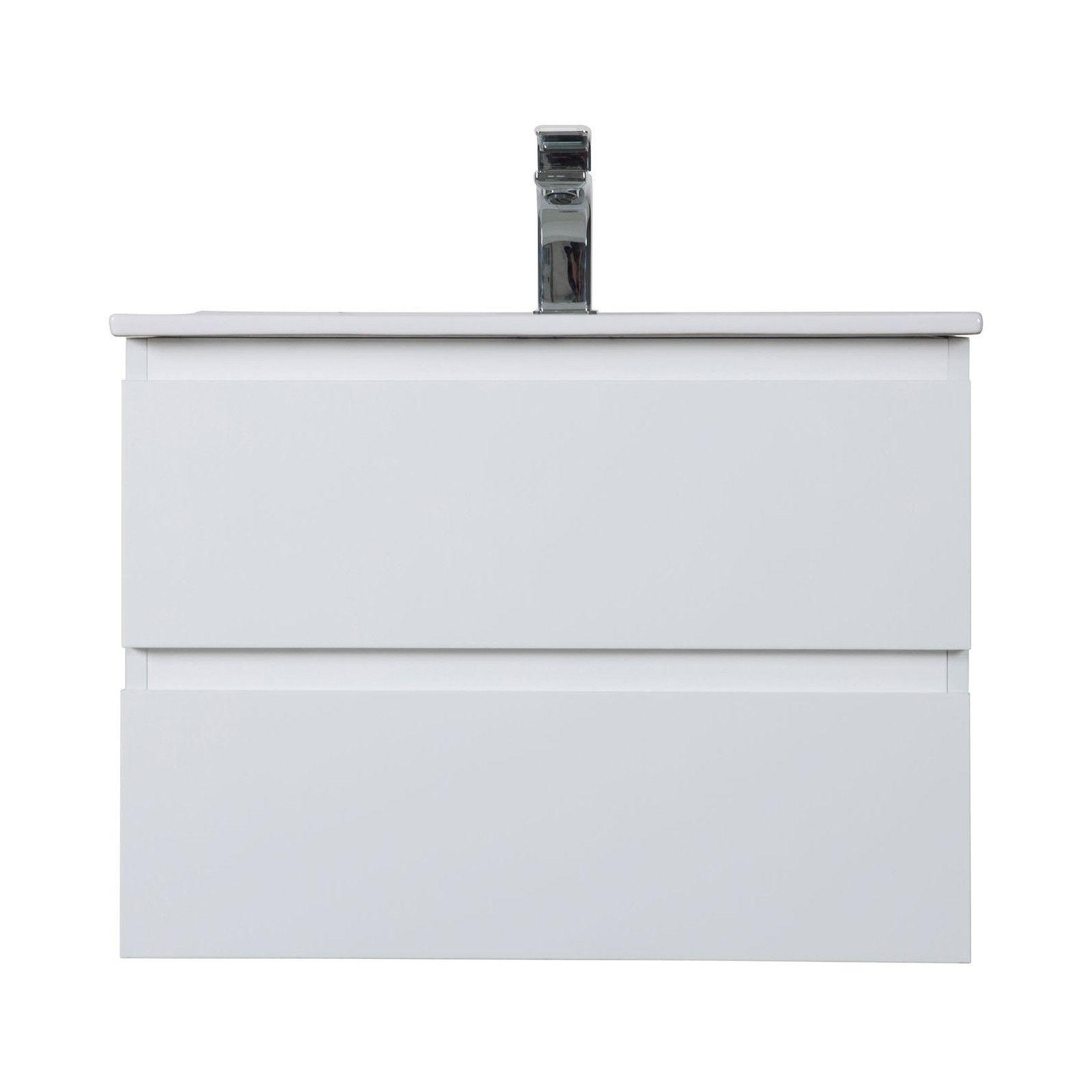 Meuble Salle de Bain 60 cm à Suspendre Blanc SORRENTO