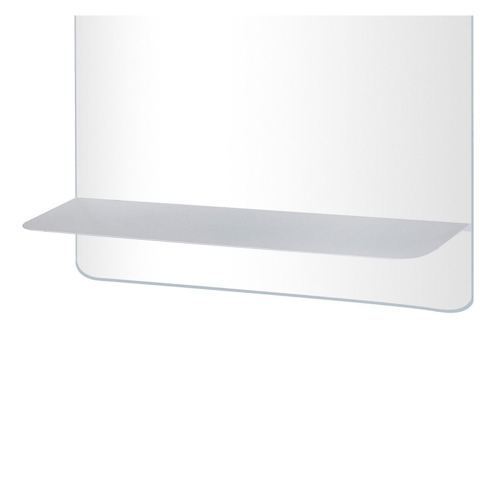Ensemble de Salle de Bain WILL - Plan suspendu 120 cm + Equerres invisibles + 2 Vasques + 2 Miroirs