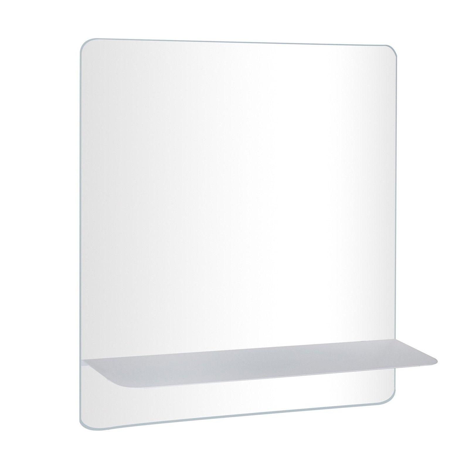 Ensemble de Salle de Bain WILL - Plan suspendu 60 cm + Equerres invisibles + Vasque + Miroir