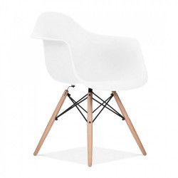 Chaise scandinave Bois/Blanc STENDI