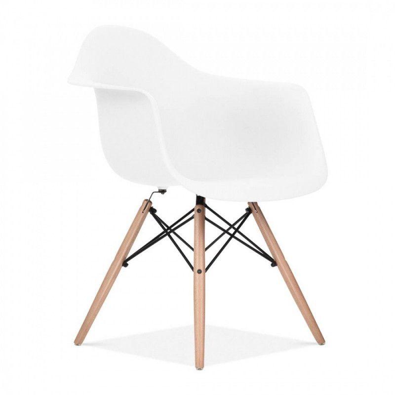 Chaise Design Bois/Blanc Scandinave  STENDI