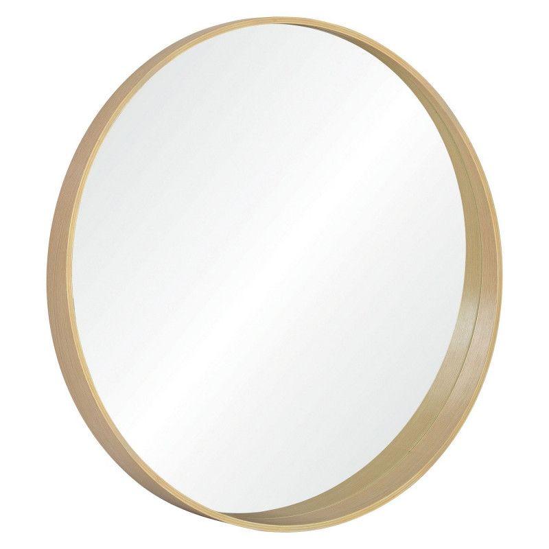 Miroir Rond Design en Bois D80 cm VALI