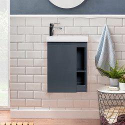 Lave-mains Gris & blanc L41,5 x H53 HAMPTON