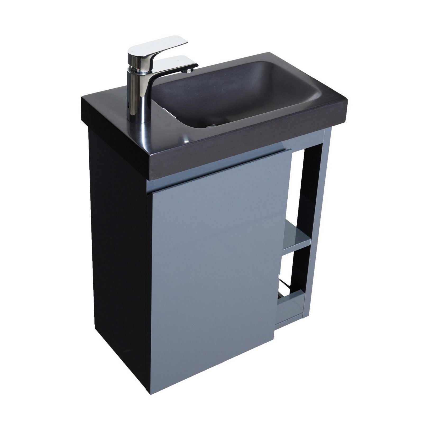 Lave-mains Gris & noir L41,5 x H53 HAMPTON