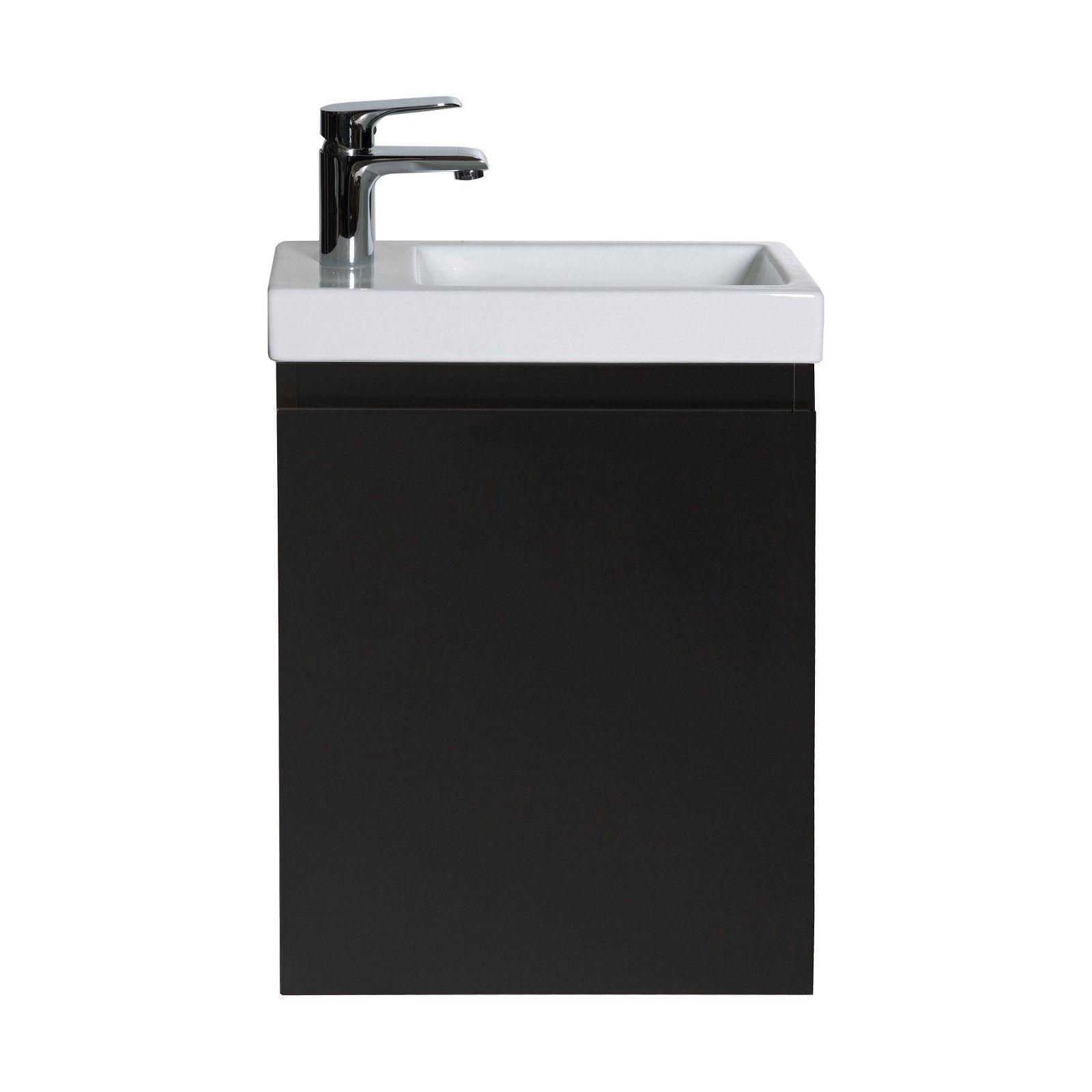 Meuble Lave-mains Noir Mat L41 x H53 LISA