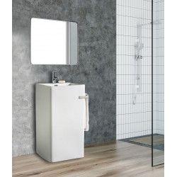 Lavabo colonne  blanc céramique H85 ACTA