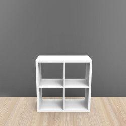Étagère bibliothèque 4 cases blanc KUBIN
