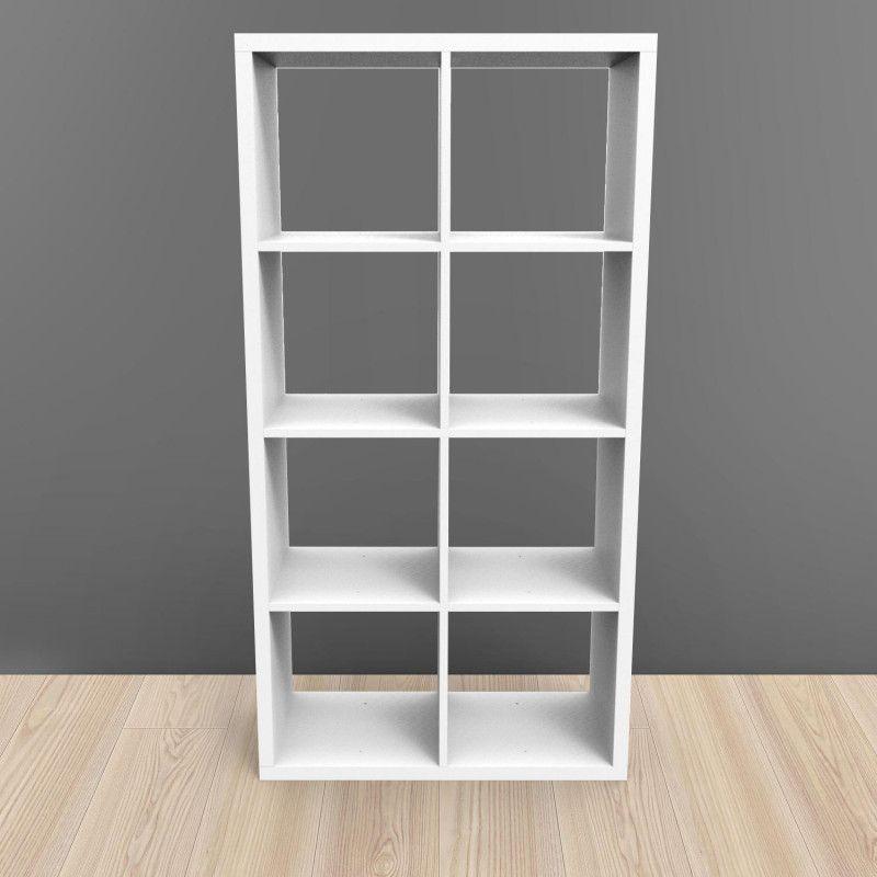 Étagère bibliothèque 8 cases blanc KUBIN