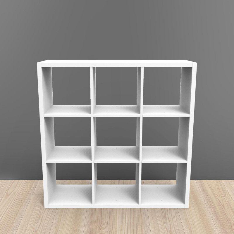 Étagère bibliothèque 9 cases blanc KUBIN