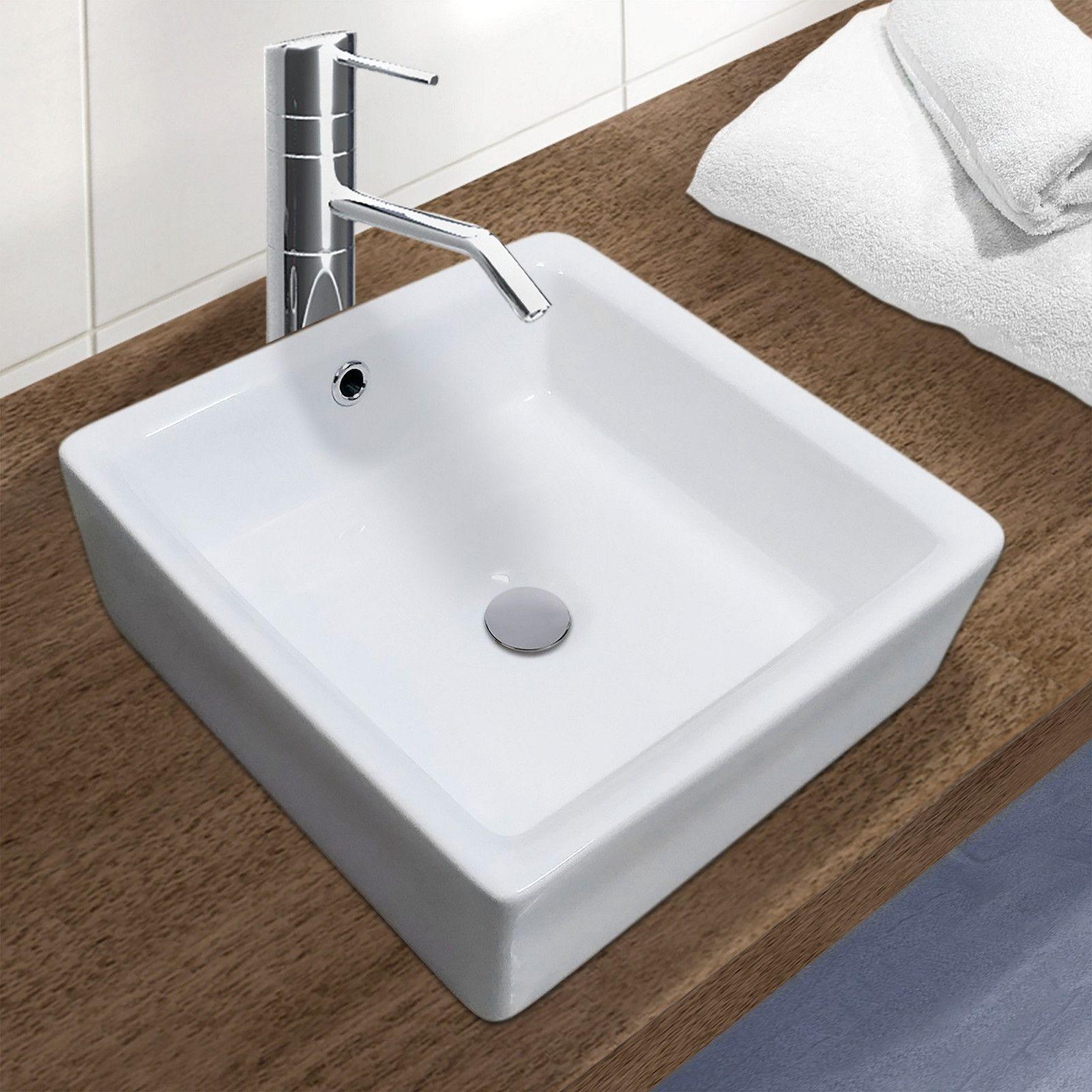 Vasque blanche à poser - Céramique L40 ANI