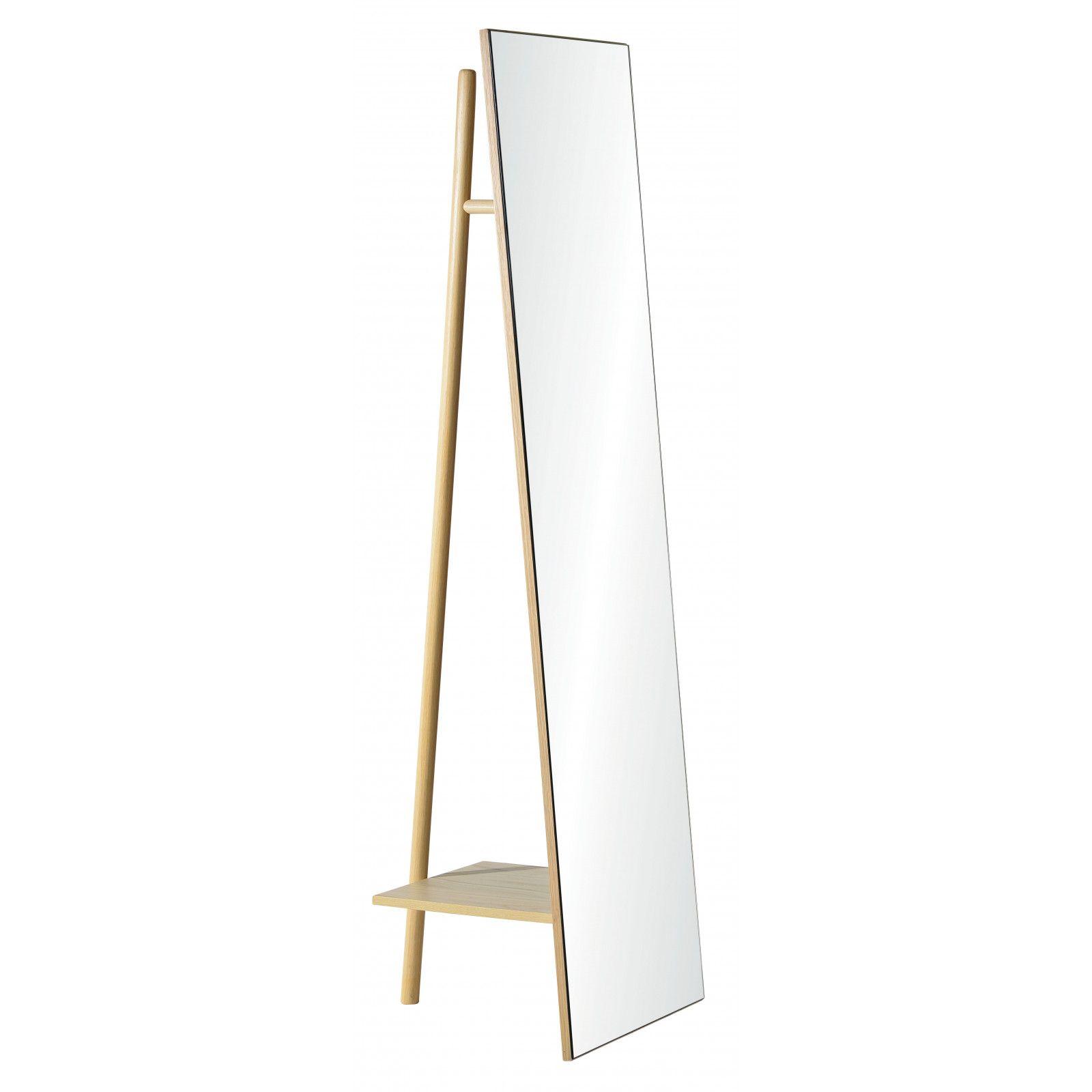 Miroir Sur Pied avec Portant H160 LIAM