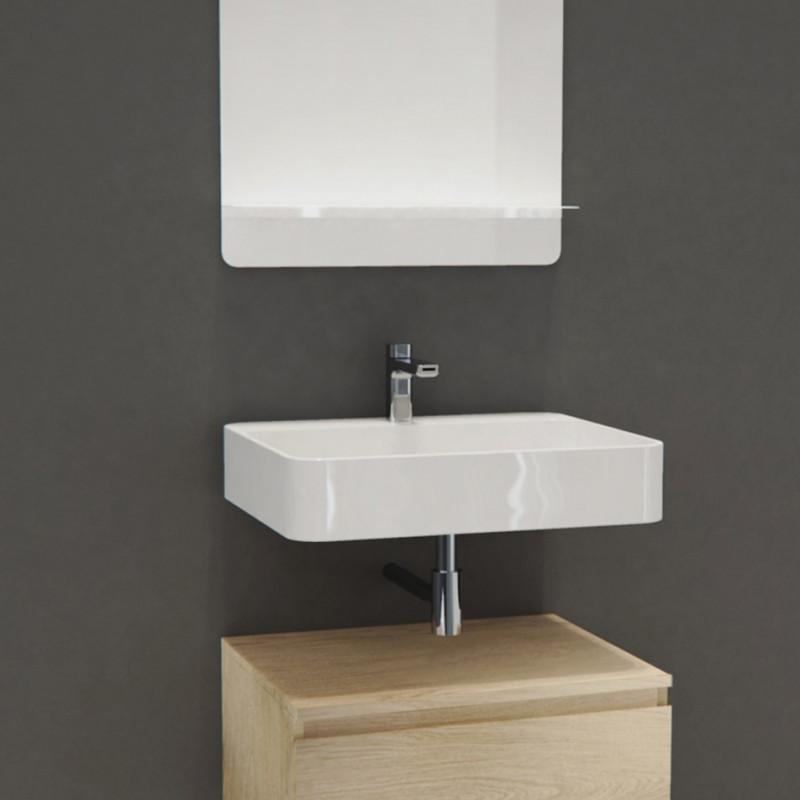 Vasque Salle de Bain à suspendre Blanc 60 cm - ANDY
