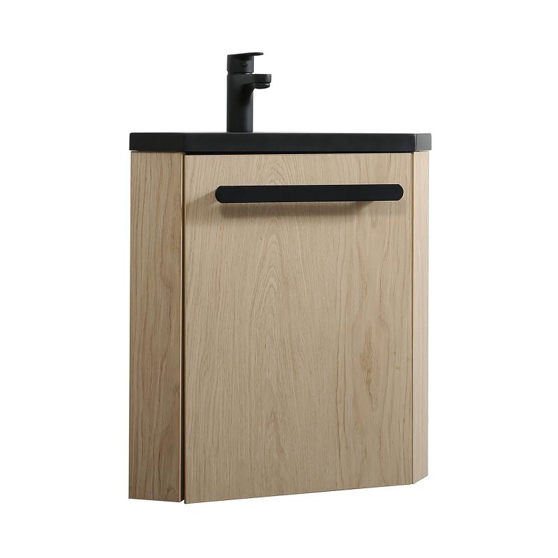 Lave-mains d'angle SKINO avec vasque résine L 35 x H 53 x P 35 cm