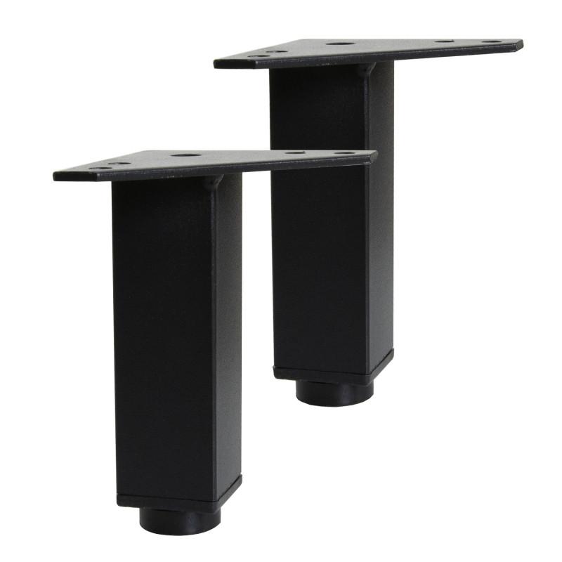 Pieds réglables en métal Noir Mat pour meuble de salle de bain
